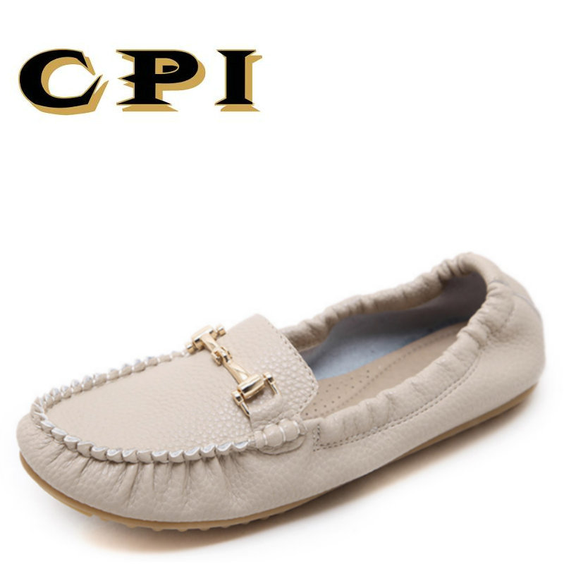 CPI 2018 new spring and autumn Shoes Women Slip On Woman Loafers Moccasins Female Flats Casual Women's Buckle Boat Shoes MM-010 winter fur women loafers slip on leather ladies flats warm plush driving boat shoes woman moccasins new casual female solid shoe