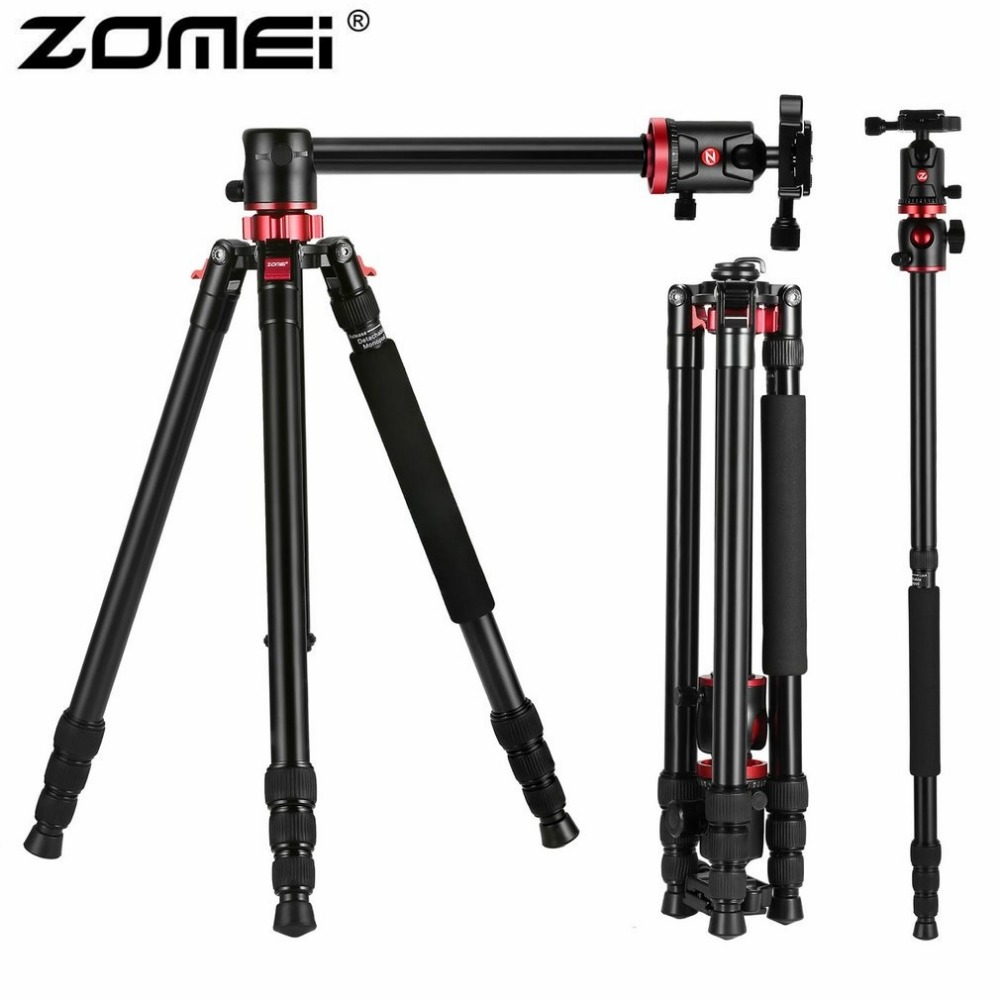 ZOMEI M8 Professioional Horizontal axis Camera Tripod 75.6 Foldable 4 Sections With 360 Degree Ball Head For DV DSLR Camera