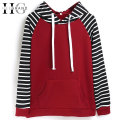 HEE GRAND Casual Women Striped Hoodies Spring New O-Neck Patchwork Hooded Sweatshirts Women Tracksuit Moletom Feminino WWW852