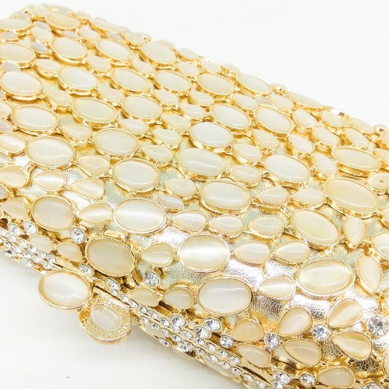 D'or Cristal Fgg À Noce Sac 1 Boîte Opale D'embrayage Bourse Sacs Minaudière Femmes Soirée Pierre Classique Boutique De Main Mariée Cqwtpp