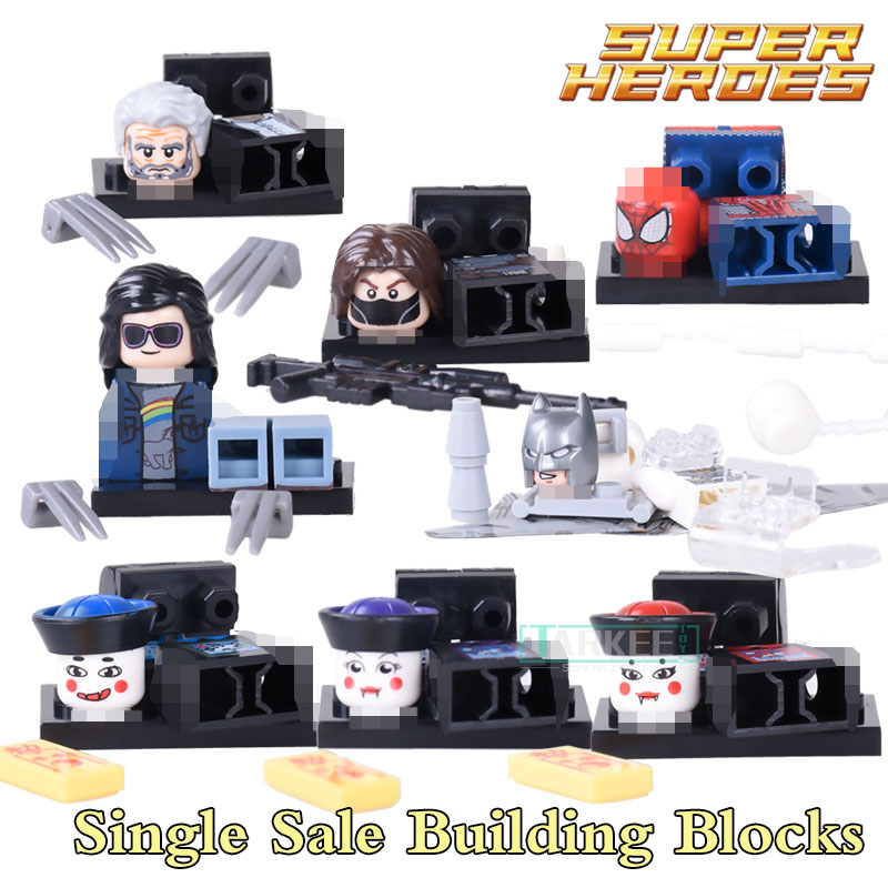 WM219 Building Blocks Laura X-23 Wolverine Batman Zombie Winter Solider Figures Super Heroes Star Wars Bricks Kids Toys  WM216 single building blocks kits ninja pythor kozu lloyd zane nya figures super heroes star wars model bricks kids toys hobbies x0143