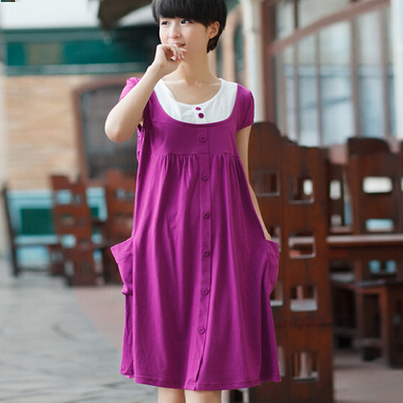 ₩Clothes For Pregnant Women Maternity Clothing Summer Short-Sleeve ...