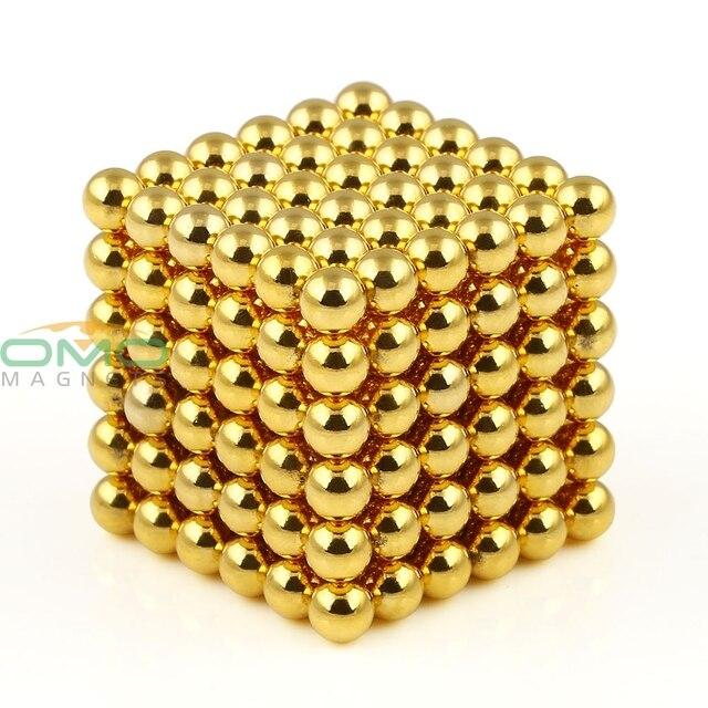 OMO Magnetics 216pcs Super Magnet Diameter Golden 4mm Nickel Magnet Rare Earth Strong Power Magnets For Industry