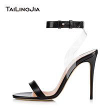 Здесь можно купить   Sliver Dress Heels with Women Gold High Heel Strappy Sandals Black Stiletto Summer Shoes PVC Transparent Shoes Wholesale 2018 Women
