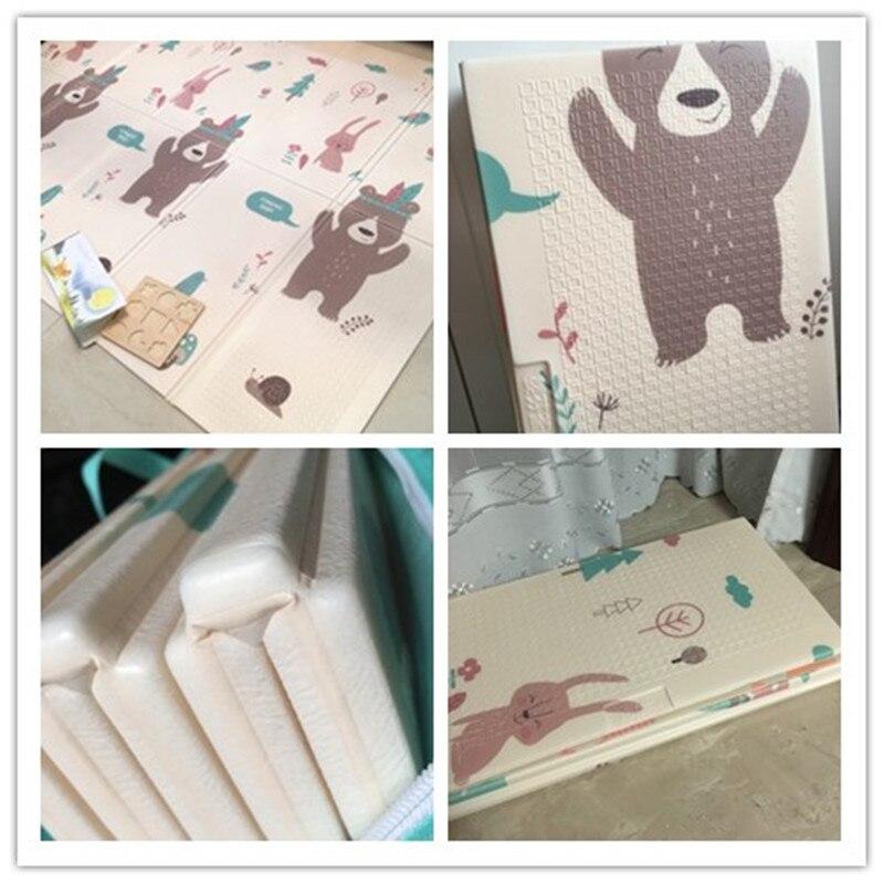 Tapis de jeu pour bébé pliable brillant épaissi Tapete Infantil maison bébé chambre Puzzle tapis XPE 150X200 CM épissage 1 CM épaisseur - 6