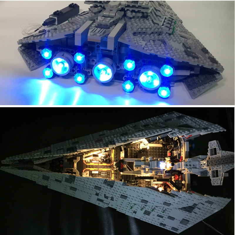 LED light up kit  for lego 75190 Compatible with 05131 ( Bricks Set not included) The First order Star Model DestroyeLED light up kit  for lego 75190 Compatible with 05131 ( Bricks Set not included) The First order Star Model Destroye