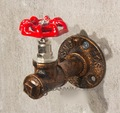 H:10.5  Base diameter:6.5cm Retro Old Iron Industrial Pipe Valve Hanger Clothing Rack Hook  Loft Industrial Style