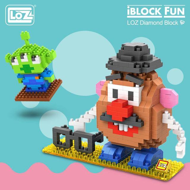 لوز الماس كتل البلاستيك اللبنات الاطفال الأطفال هدية لعبة تعليمية الكرتون نموذج التعليمية لتقوم بها بنفسك بناء الشكل 9505