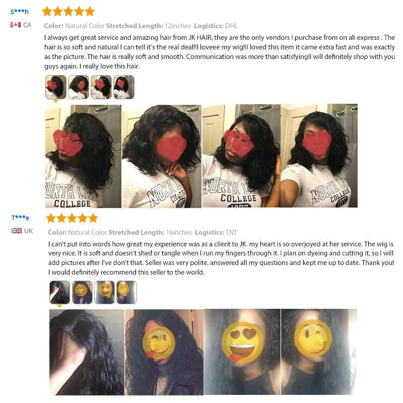 Бразильский синтетические волосы на кружеве человеческие Искусственные парики для черный для женщин Remy Естественная волна короткий парик-Боб