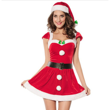 2017 Fashion Adults Women Slim Fit Sexy Christmas Suit Costumes Adult women Santa Claus Cosplay Christmas Party Fancy Dress z30
