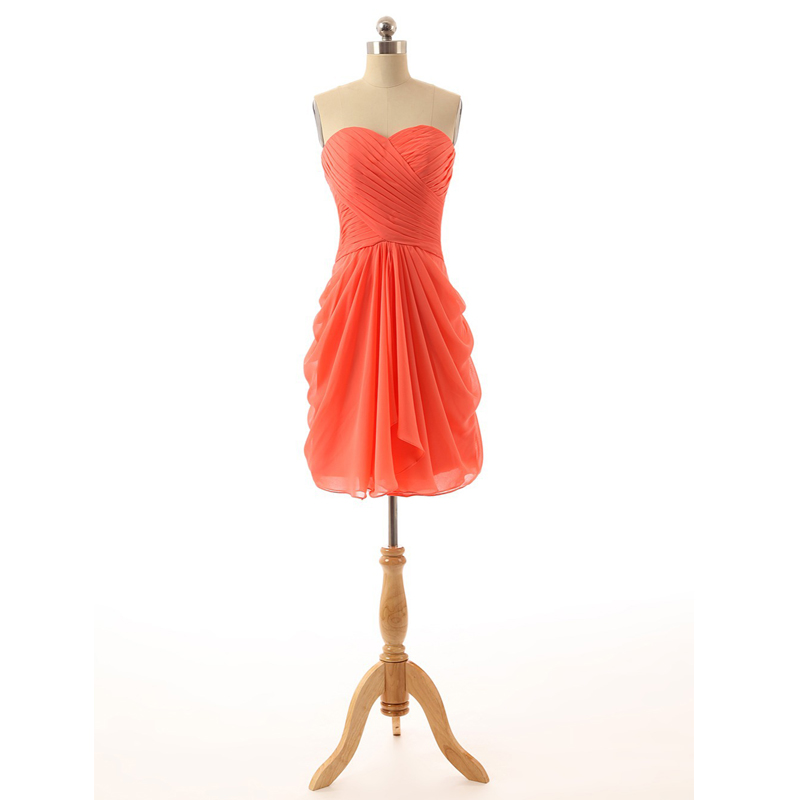 Online Get Cheap Coral Bridesmaid Dresses Under 100