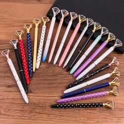 Kawaii crystal ballpoint pen fashion girl 19 carat large diamond metal pen material escolar bolis escolares.jpg 250x250