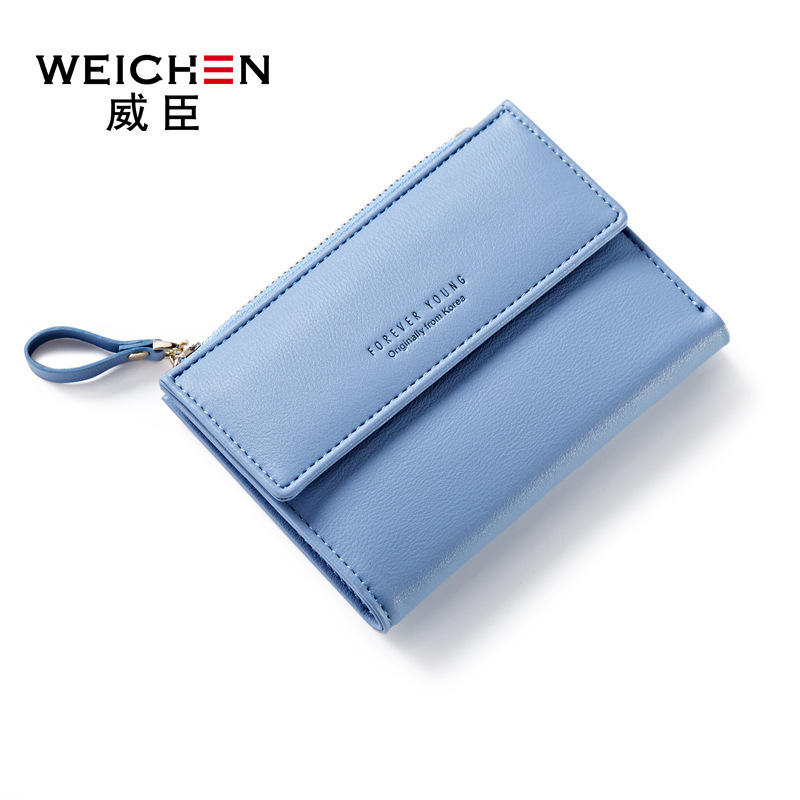 WEICHEN 2017 NEW Lady Short Women Wallet Multi-card Design Fresh Style Young Girls Small Coin Purse PR07B366-1 3 x adjustable 1 4 pt thread sc sintered bronze exhaust muffler throttle valve