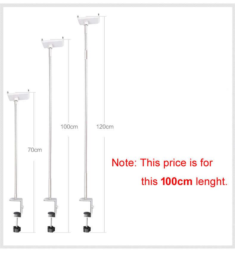 Suporte para tablet de 360 cm ajustável, suporte de metal para cama preguiçosa de 100 graus, suporte para telefone de 3.5 a 10.6 polegadas para ipad air mini 4
