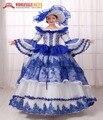 ¡ CALIENTE!! Global FreeShipping Vestidos Belle 18th Century Marie Antonieta Barroco Rococó Vestido