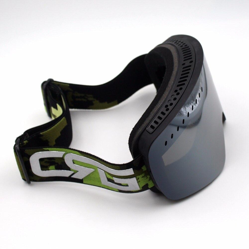 Prix pour Gris Lentille Noir Cadre Ski Lunettes REVO Double Lentille UV400 Anti-Brouillard Grand Masque de Ski Lunettes de Ski Hommes Femmes Neige Snowboard lunettes