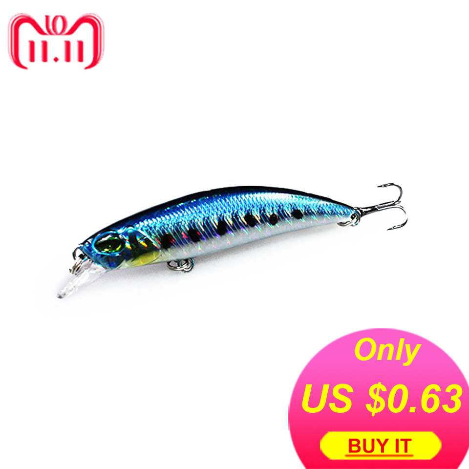 WALK FISH 1Pcs Sinking Minnow Fishing Lure 6.5cm 4g Winter Laser Hard Artificial Bait 3D Eyes Fishing Wobblers Crankbait Minnows 1pcs bending 9cm 8g fishing lure minnow hard bait with 2 fishing hooks fishing tackle lure 3d eyes crankbait minnows wd 243