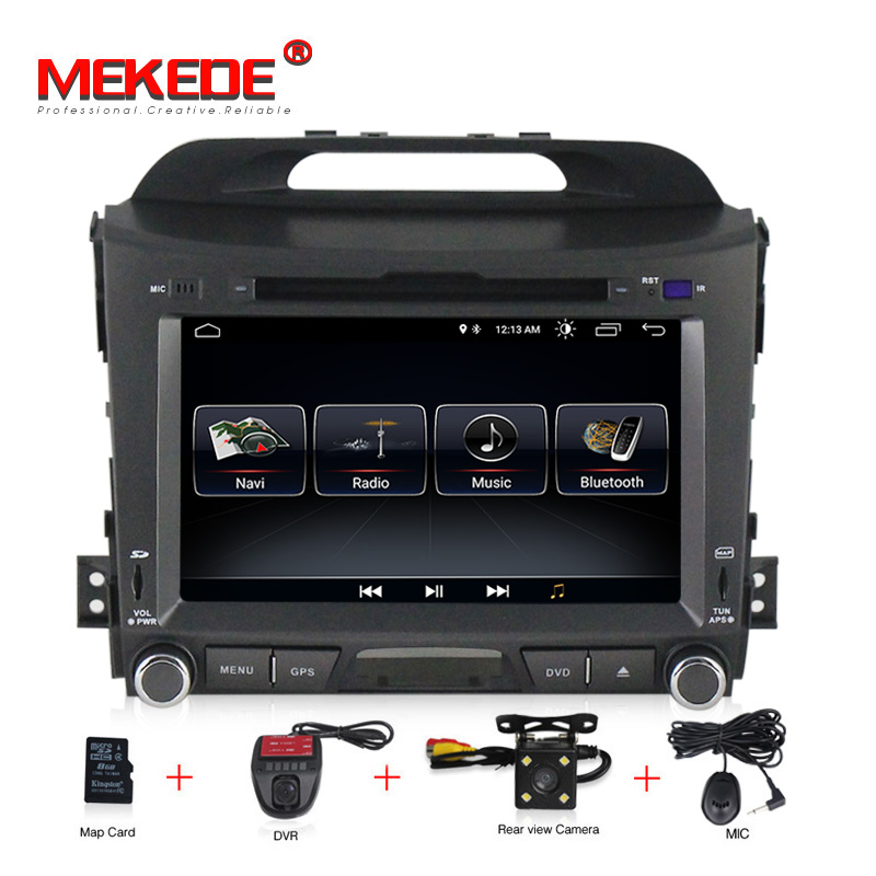 1024x600 HD Android 8 0 Car Multimedia Player Stereo For Kia Sportage 2010 DVD Bluetooth font