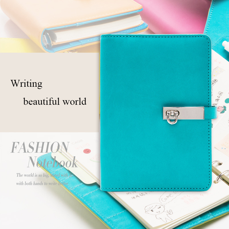 Candy Color A6 PU Leather Notebook Planner Organizer Loose Leaf Composition Book Gifts Spiral Business Notepad Office Supplies a5 a6 macaron spiral notebook with refill candy color loose leaf notepad planner diary girlfriend gift office school supplies