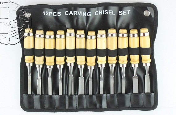 12pc carving chisel set
