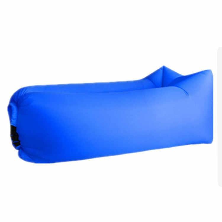 Inflável Sofá Preguiçoso Cama Luz À Prova D' Água Saco de Dormir Camping Cama de Ar Portátil Nylon Adulto Praia Espreguiçadeira Dobrável Rápido