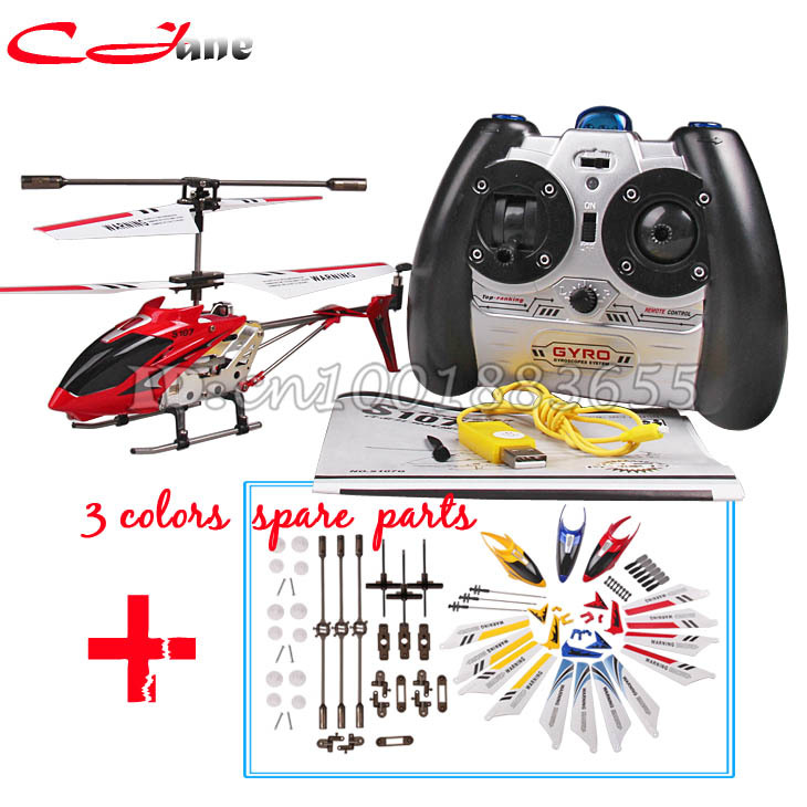 ФОТО Free shipping Wholesale Syma S107G S107 RC Helicopter with gyroscope & USB,mini 3 CH helicopter and 3 colors spare part