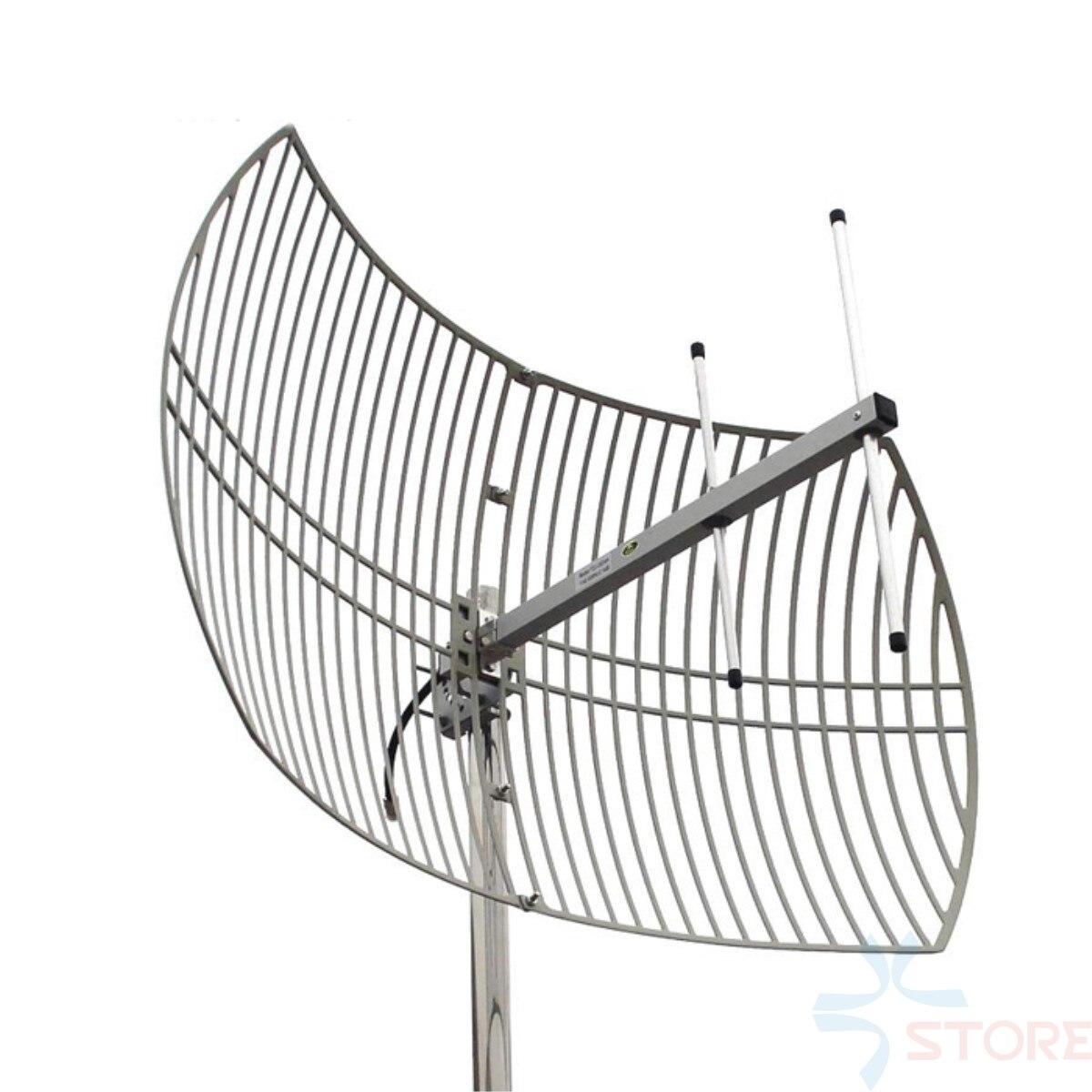 1.2g 15dBi à Gain Élevé Directionnelle Parabolique Grille Antenne Pour la Transmission Vidéo FPV RC Avion