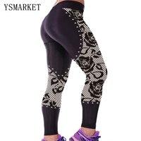 2017 Sıcak Bayan Yüksek Bel Rahat Seksi Konfor Sporting Tozluk Kız Ince Spor Pantolon Bodycon Kapriler Kadın Spor 79862