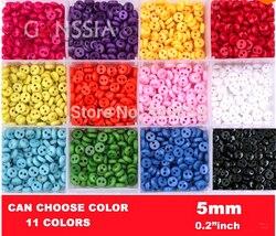 100 pçs/lote alta qualidade 5mm tamanho pequeno botão de costura a granel botões para diy acessórios costura botões resina para vestuário (SS-1002)