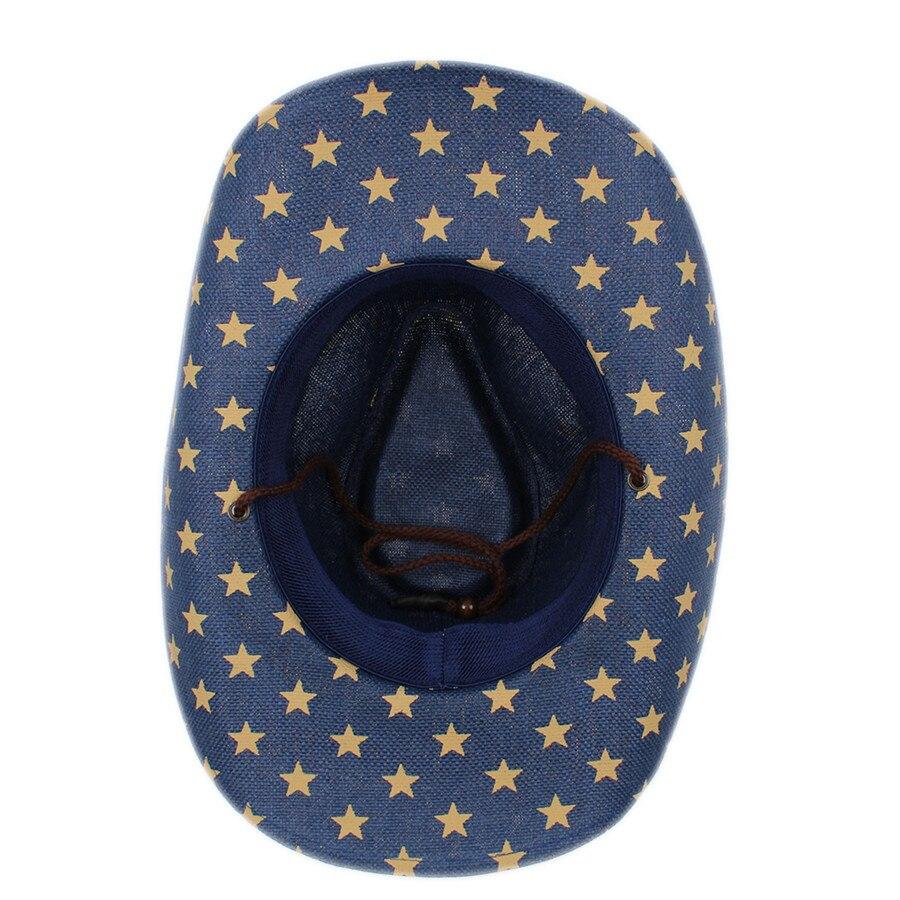 Musim panas topi koboi pria wanita pria berongga barat cowgirl jazz ... 4313c870b0