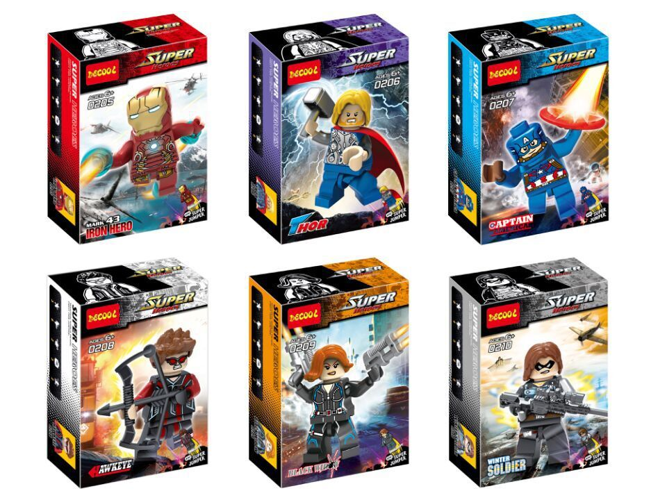 Wholesale Decool Building Blocks Super Heroes 480pcs Avengers 2 Iron Man Thor Black Soldier Captain America