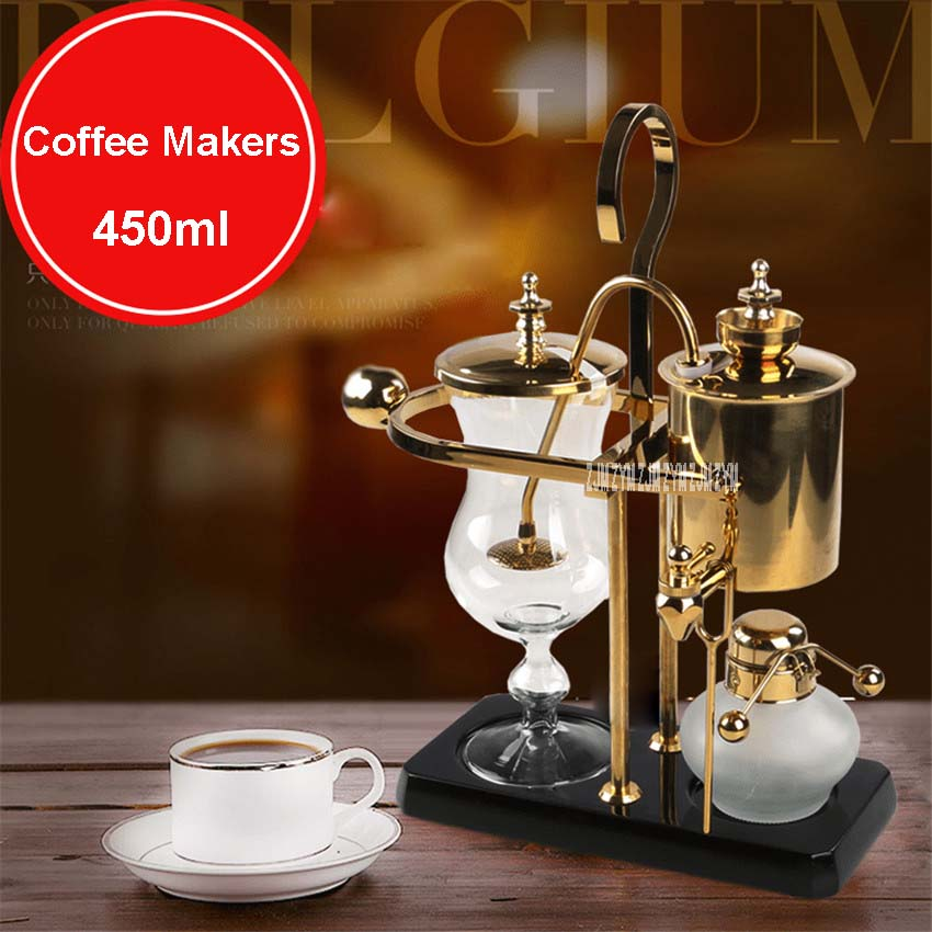 450ml Real coffee baling coffee / Belgian coffeepot, coffee pot siphon with high quality and excellent apperance Stainless steel