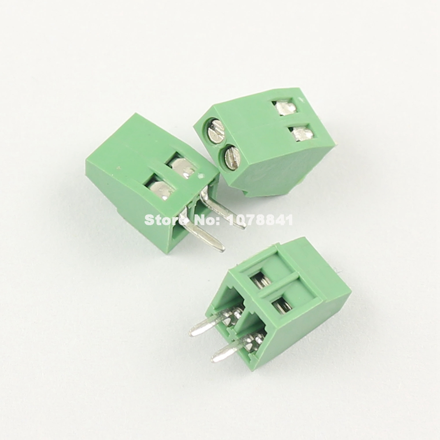 6 Pin Terminal Block Škoda 1j0973713: 50Pcs Per Lot Universal 2.54mm Pitch 2 Pin 2 Poles PCB