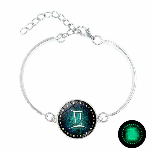 12 Constellations Zodiac Sign Luminous Bracelets