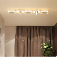Modern led ceiling lamps Office living room bedroom aisle ceiling lamps long creative Indoor Lighting RC Dimmable Pendant light