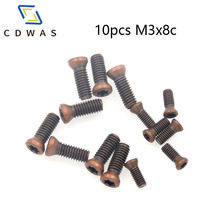 10PCS M3x8C Insert Torx Screw for Replaces Carbide Inserts Turning Tool Holder Accessories стоимость