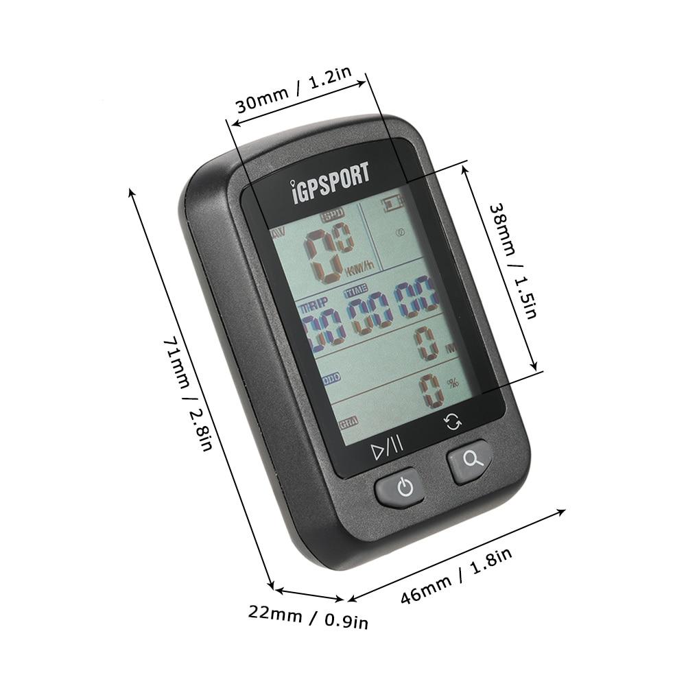 IGPSPORT iGS20E inteligente impermeable IPX6 GPS computador camino de MTB bicicleta deporte velocímetro cuentakilómetros titular + regalo gratis - 6