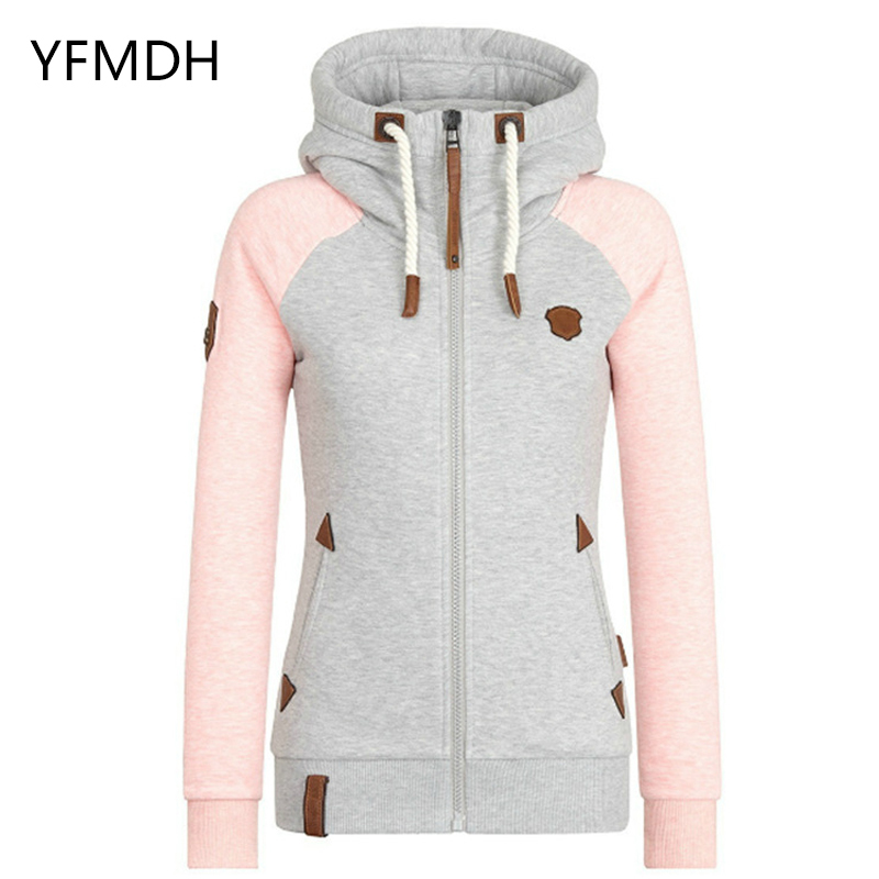 2019 Spring Women Solid Color Hooded Coat Windbreaker Female Zipper Windproof Outerwear   Basic     Jacket   Coat Tops Plus Size S-5XL
