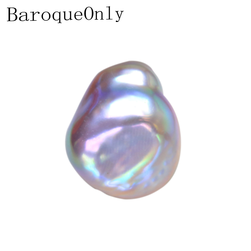 BaroqueOnly high quality oblate purple naked pearl beads super size cultured freshwater pearl for DIY jewelry making BVA-1 baroqueonly naked pair beads purple big size high quality flat beads natural fresh water pearl for earring making bcz 2