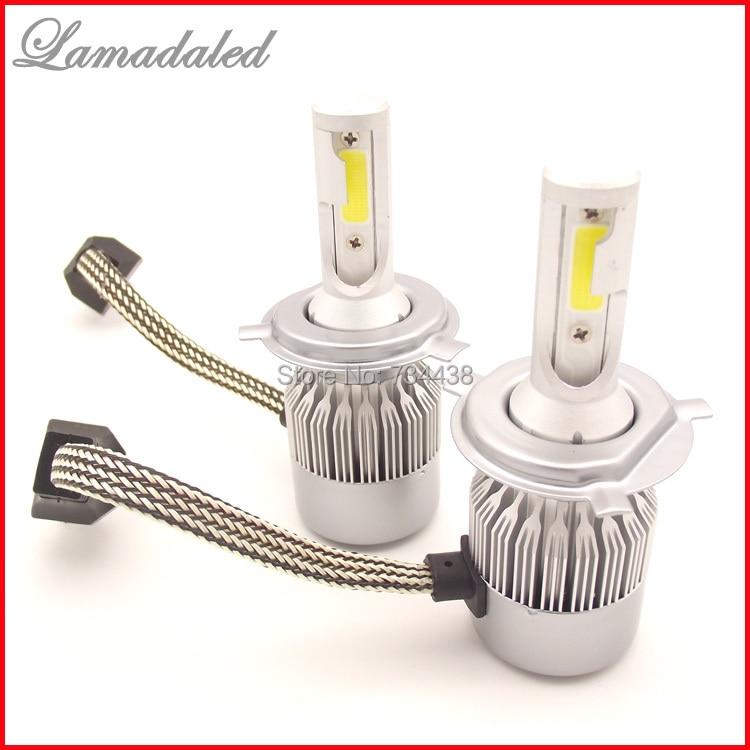 ALL IN ONE auto LED světlomet H4 COB čip přední auto lampa 36w 3800lm dálkové světlo