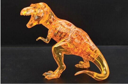 2016 Новинка Прекрасный динозавр мультфильм 3D DIY головоломки мудрость детские развивающие Игрушечные лошадки