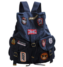 Стейси мешок марка девочка брезент рюкзак преппи студент школа мешок путешествие мешок