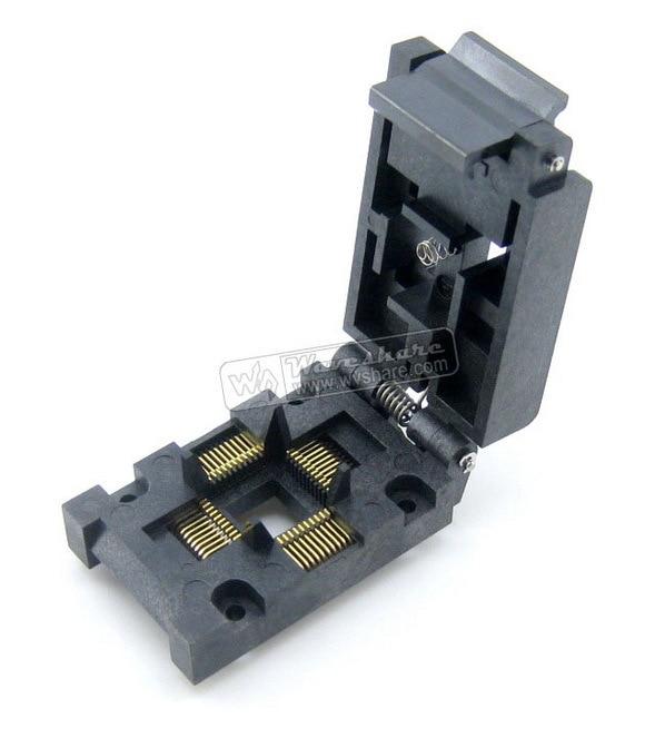 module QFP44 TQFP44 LQFP44 PQFP44 FPQ-44-0.8-16A QFP Enplas Programmer IC Socket Adapter modules original brand new enplas qfp44 fpq 44 0 8 19 enplas ic test burn in socket block adapter 0 8mm pitch tqfp44 fqfp44 pqfp