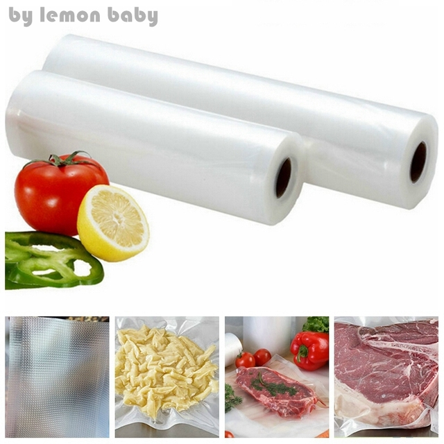 6 Sizes Vacuum Heat Sealer Fresh Food Saver Bags Roll Storage Saran Wrap