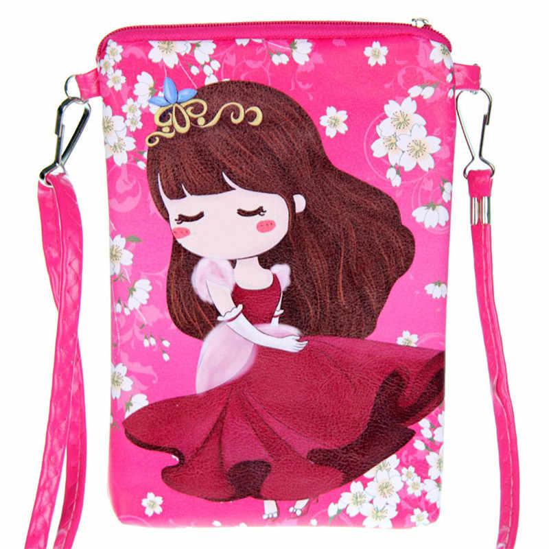 Новая женская сумка-мессенджер модные сумки маленькие Мультяшные принты для девочек Mochila сумки через плечо Сумка детский Ранец Сумка Bolsa