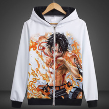 Anime One Piece Long Sleeve Spring and Autumn paragraph cartoon printed Hoodies fashion trend clothes