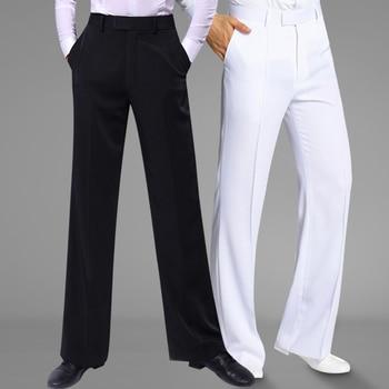 New Dance Trousers 2019 Men National Standard Modern Ballroom Dancing Pants Costumes Adult Latin Training Clothing Black White
