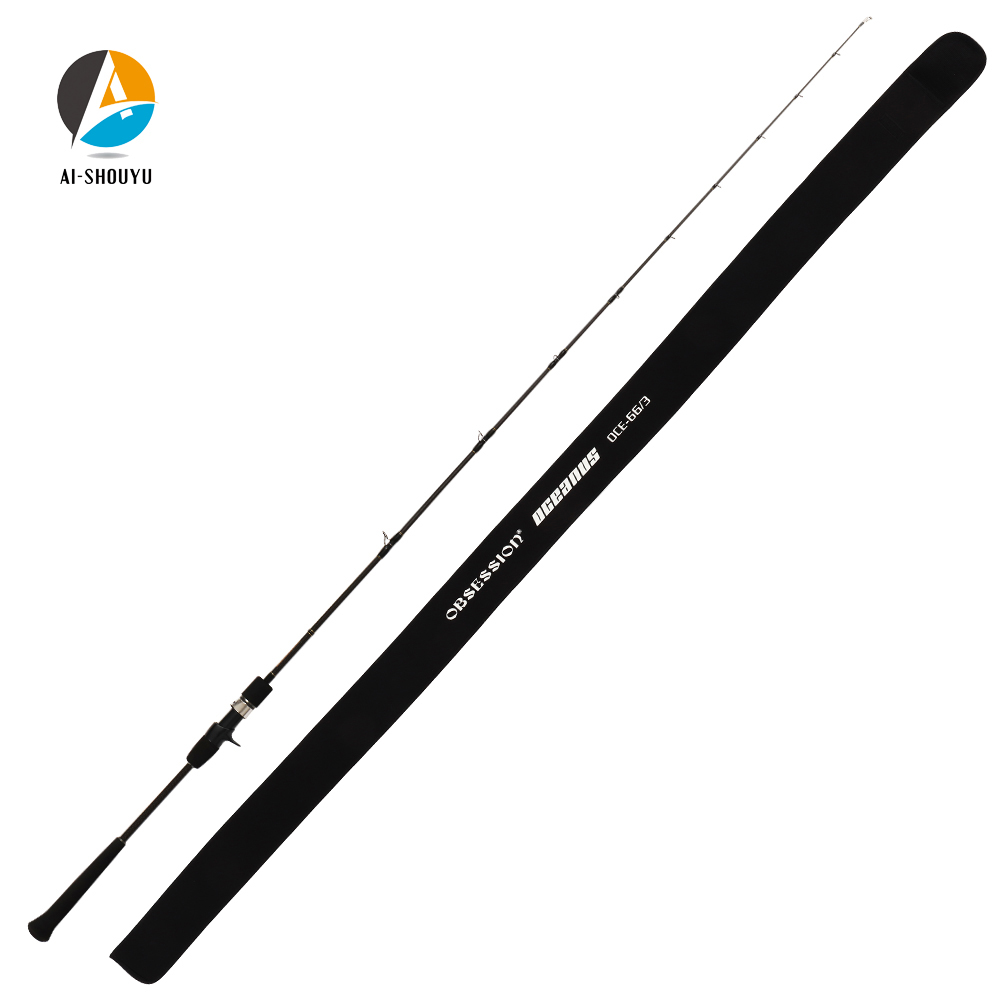 2020 New Professional Slow Jigging Rod 1.98m Full Japan Fuji Parts Single Section Carbon Casting Boat Rod Ocean Fishing Pole