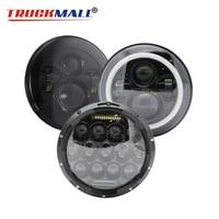 2pcs DOT 7inch LED Headlights For VAZ 2121 Lada Niva 4x4 7 LED Projector Headlamps For Jeep Wrangler Land Rover Defender