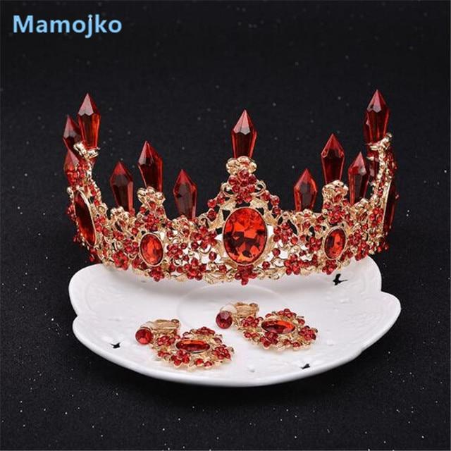 Mamojko SALE Baroque Crystal Bridal Crown Tiaras Woman New Wedding Headwear Crys